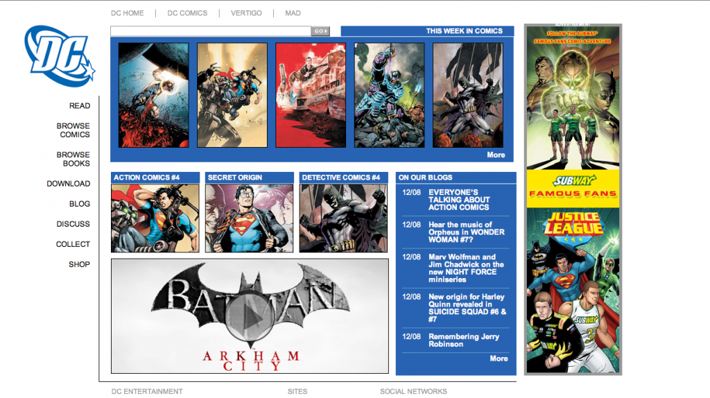 DC Comics Site