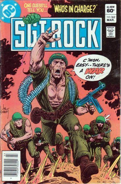 Sgt. Rock #362, Cover Art by Joe Kubert, Written by Robert Kanigher