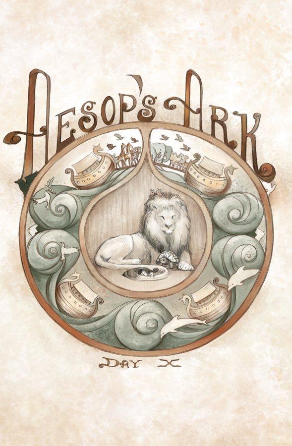 Aesop's Ark Cover #1. Art by Jennifer L. Meyer.