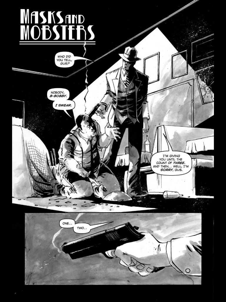 Masks and Mobsters interior page. Joshua Williamson and Mike Henderson
