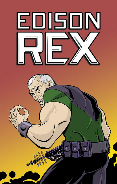 Edison Rex #1 Cover Art By Dennis Culver and Stephen Downer