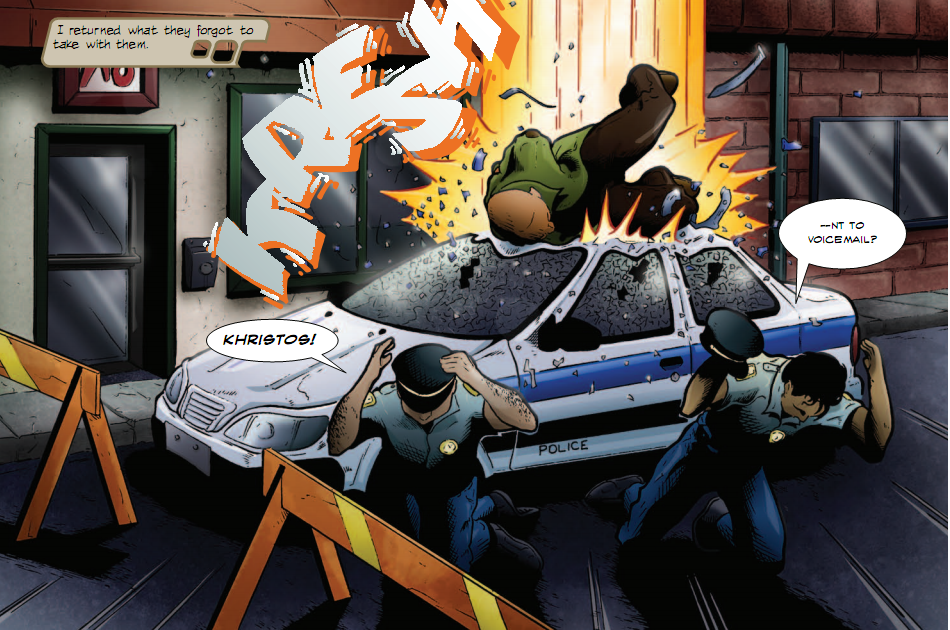 Police Car Smash from Variables November 2002