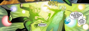 Light is elightrocuted. image from Suicide Squad #9