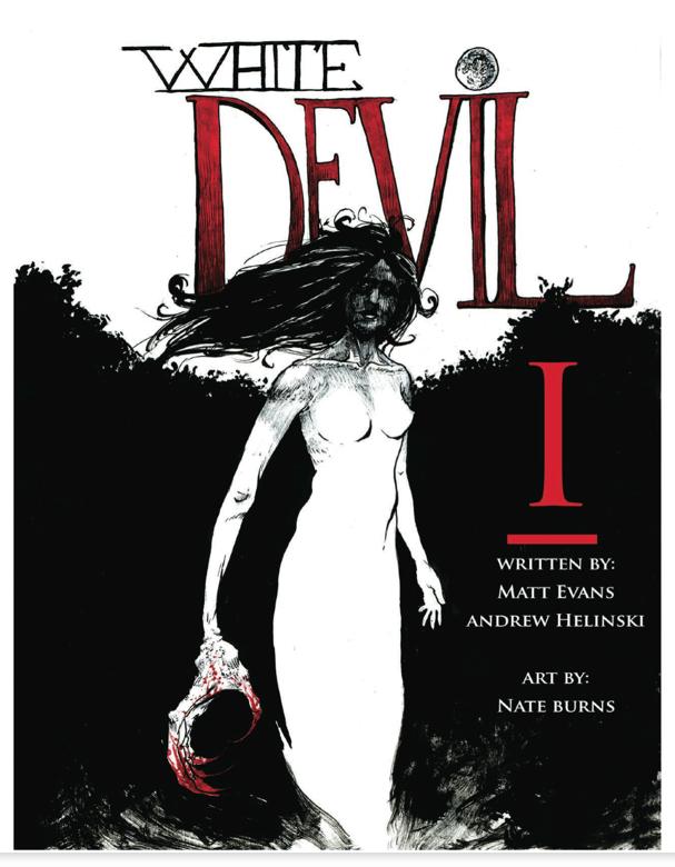 White Devil #1 Cover Art by Nate Burns