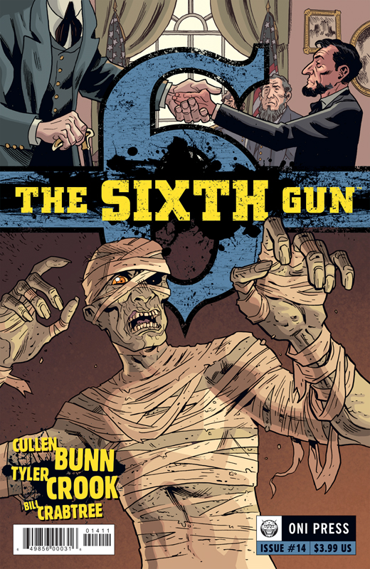 The Sixth Gun #14 Cover Drawn by Tyler Crook